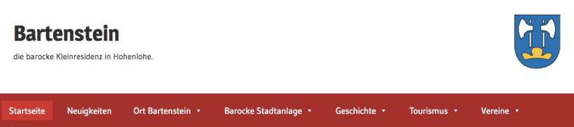 Bartenstein-Orts-Webpage